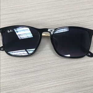 Ray Ban Black Sunglasses with Gold Trim